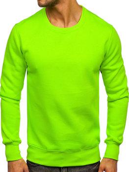 Bolf Herren Sweatshirt ohne Kapuze Grün-Neon  2001