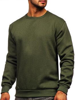 Bolf Herren Sweatshirt ohne Kapuze Khaki  2001