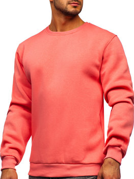 Bolf Herren Sweatshirt ohne Kapuze Korallenrot  2001
