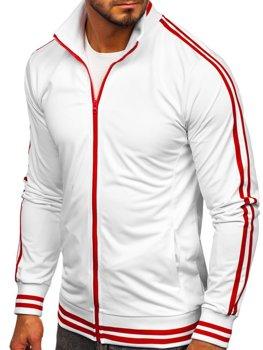Bolf Herren Sweatshirt ohne Kapuze Retro Style Weiß 11113