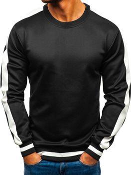 Bolf Herren Sweatshirt ohne Kapuze Schwarz  99009
