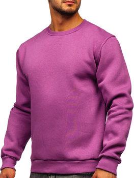 Bolf Herren Sweatshirt ohne Kapuze Violett  2001