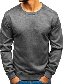 Bolf Herren Sweatshirts ohne Kapuze Schwarzgrau  22003