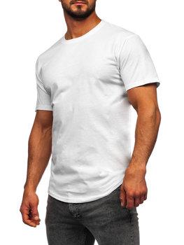 Bolf Herren T-Shirt Lang Weiß  14290