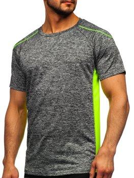 Bolf Herren T-Shirt Sportshirt Schwarzgrau  HM074