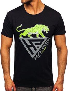 Bolf Herren T-Shirt mit Moiv Schwarz  Y70013
