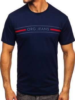 Bolf Herren T-Shirt mit Motiv Dunkelblau  14802