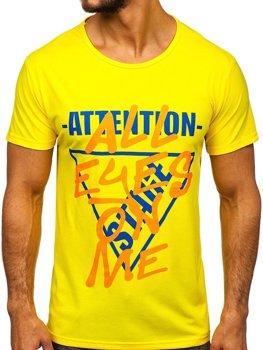Bolf Herren T-Shirt mit Motiv Gelb  KS1995