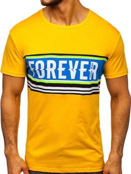 Bolf Herren T-Shirt mit Motiv Gelb  SS11097