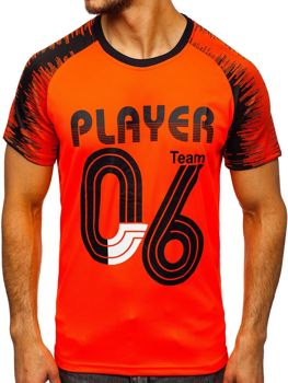 Bolf Herren T-Shirt mit Motiv Orange KS2065