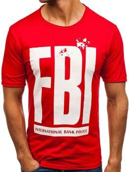 Bolf Herren T-Shirt mit Motiv Rot  6295