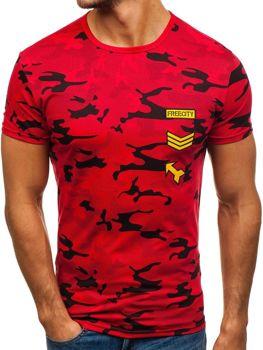 Bolf Herren T-Shirt mit Motiv Rot  SS331