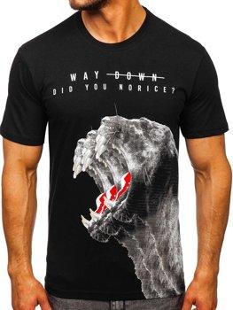 Bolf Herren T-Shirt mit Motiv Schwarz  181519