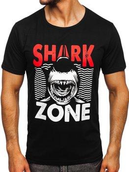 Bolf Herren T-Shirt mit Motiv Schwarz KS2652