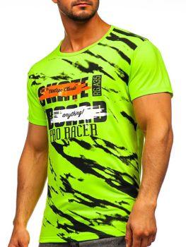 Bolf Herren T-Shirt mit Motiv Seladongrün  KS1951