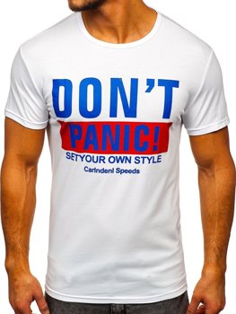 Bolf Herren T-Shirt mit Motiv Weiß 10858