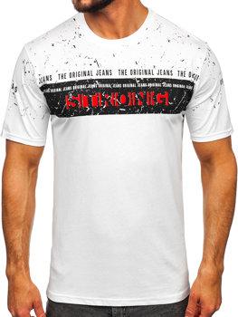 Bolf Herren T-Shirt mit Motiv Weiß  14204