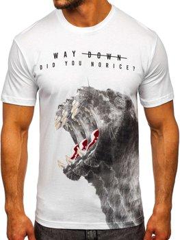 Bolf Herren T-Shirt mit Motiv Weiß  181519
