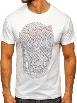 Bolf Herren T-Shirt mit Motiv Weiß  KS2108