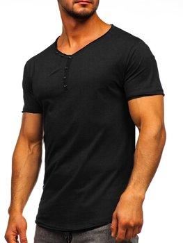 Bolf Herren T-Shirt mit V-Ausschnitt Schwarz 4049