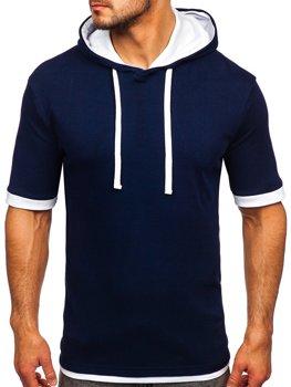 Bolf Herren T-Shirt ohne Motiv Dunkelblau  08