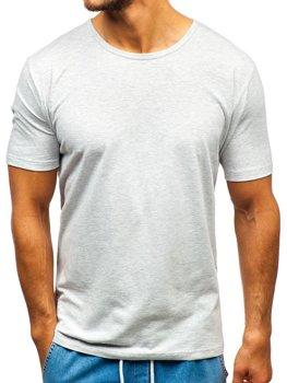 Bolf Herren T-Shirt ohne Motiv Grau  T1281