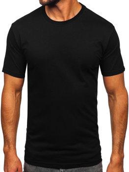 Bolf Herren T-Shirt ohne Motiv Schwarz  14291