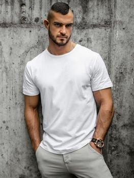 Bolf Herren T-Shirt ohne Motiv Weiß  T1279
