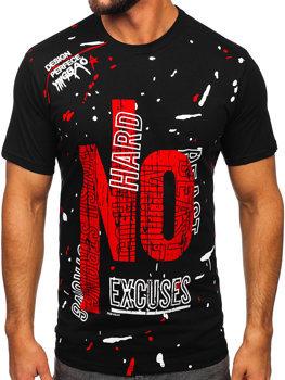 Bolf Herren T-Shirts mit Motiv Schwarz JS1856