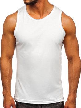 Bolf Herren Tank Top Unterhemd ohne Motiv Weiß Bolf 1205