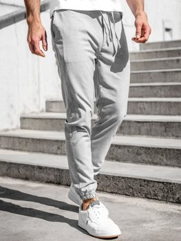 Bolf Herren Textil Hose Jogger Pants Grau  0011