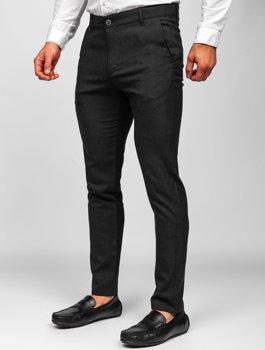 Bolf Herren Textilhose Chino Hose Schwarz 0016