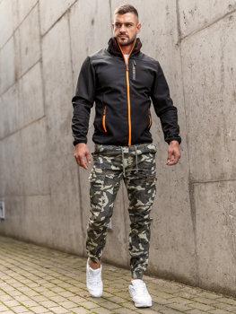 Bolf Herren Übergangsjacke Schwarz Softshell Jacke KS2185