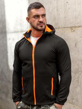 Bolf Herren Übergangsjacke Softshell Jacke Schwarz-Orange  HH017