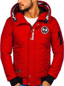 Bolf Herren Übergangsjacke Sport Jacke Rot  5856