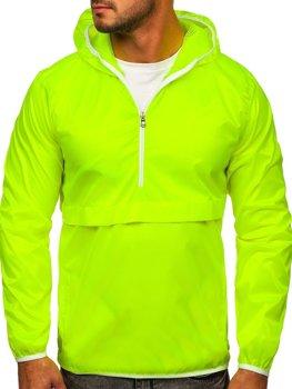 Bolf Herren Übergangsjacke Sport Jacke mit Kapuze Geln-Neon  5061
