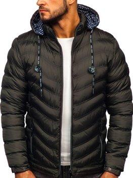 Bolf Herren Übergangsjacke Sport Jacke mit Steppmuster Khaki  50A255
