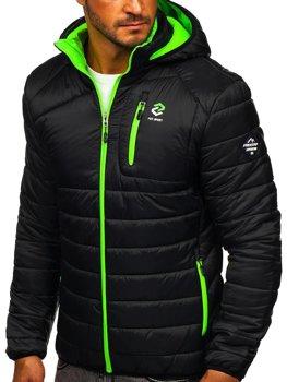 Bolf Herren Übergangsjacke Sport Jacke mit Steppmuster Schwarz BK031