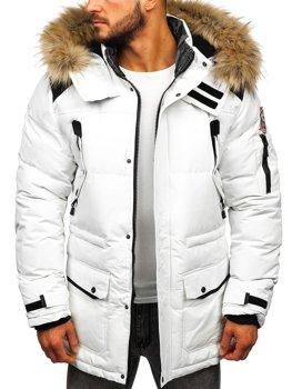 Bolf Herren Winterjacke Weiß  5948