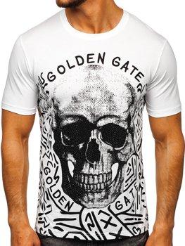 Bolf HerrenT-Shirt mit Aufdruck Weiß  KS7332