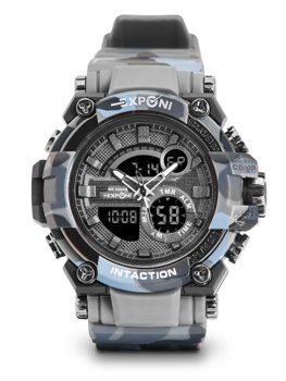 Herren Armbanduhr Camo Grau  3258