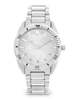 Herren Armbanduhr Silber Stahl  5690