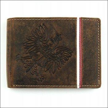 Herren Leder Geldbörse Braun 675
