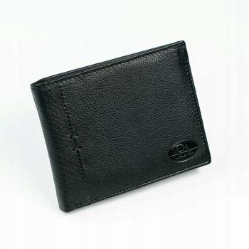 Herren Leder Geldbörse Schwarz 874