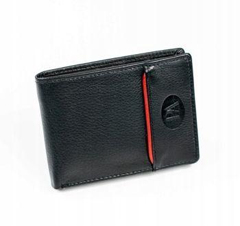 Herren Leder Geldbörse Schwarz 875