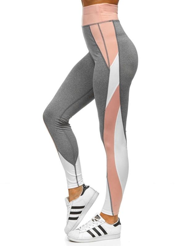 Bolf Damen Leggings Grau  54038