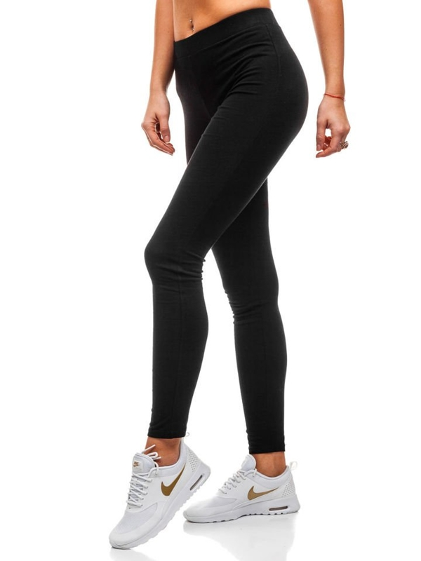 Bolf Damen Leggings Schwarz  K7795