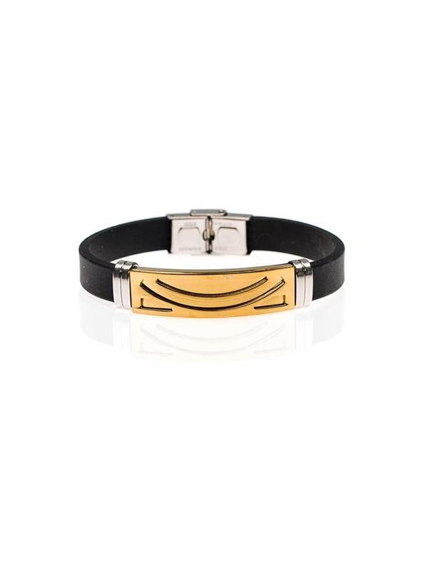 Bolf Herren Armband Schwarz B045