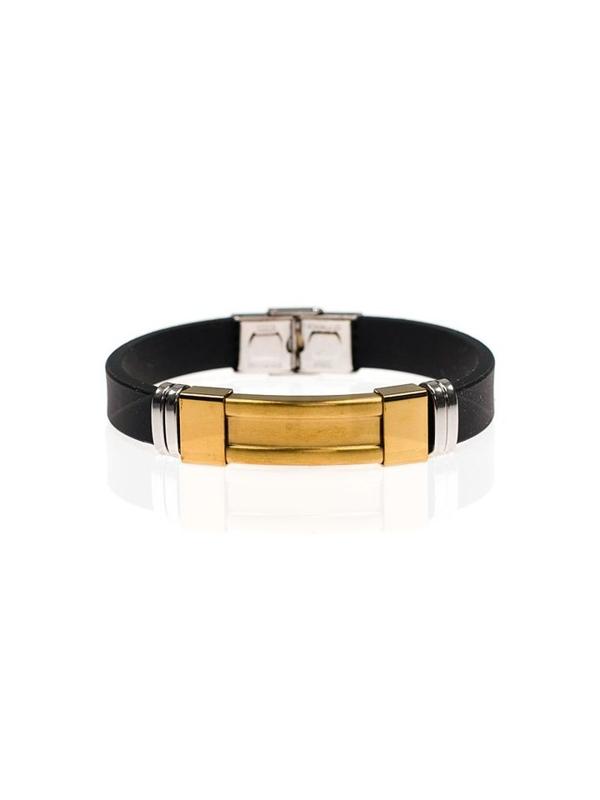 Bolf Herren Armband Schwarz B046