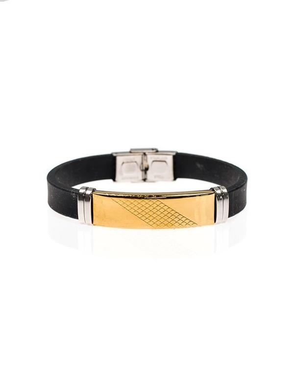Bolf Herren Armband Schwarz B053
